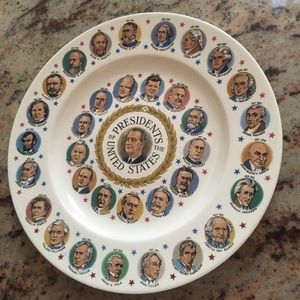 Vintage Presidents of the United States Plate